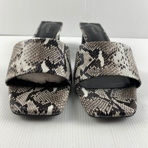 Women's Tony Bianco Snake Mule Heel Shoes Size 11
